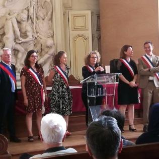 La cérémonie, les élus